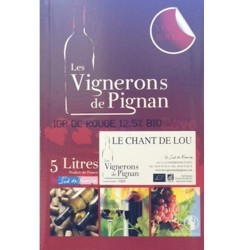 Vin Rouge Bag in Box  Le Chant de Lou AB